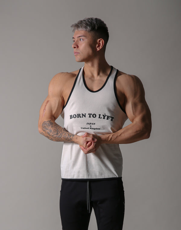 BORN TO LÝFT Loose Tanktop - White