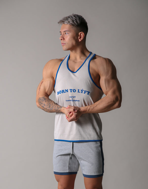 BORN TO LÝFT Loose Tanktop - Grey