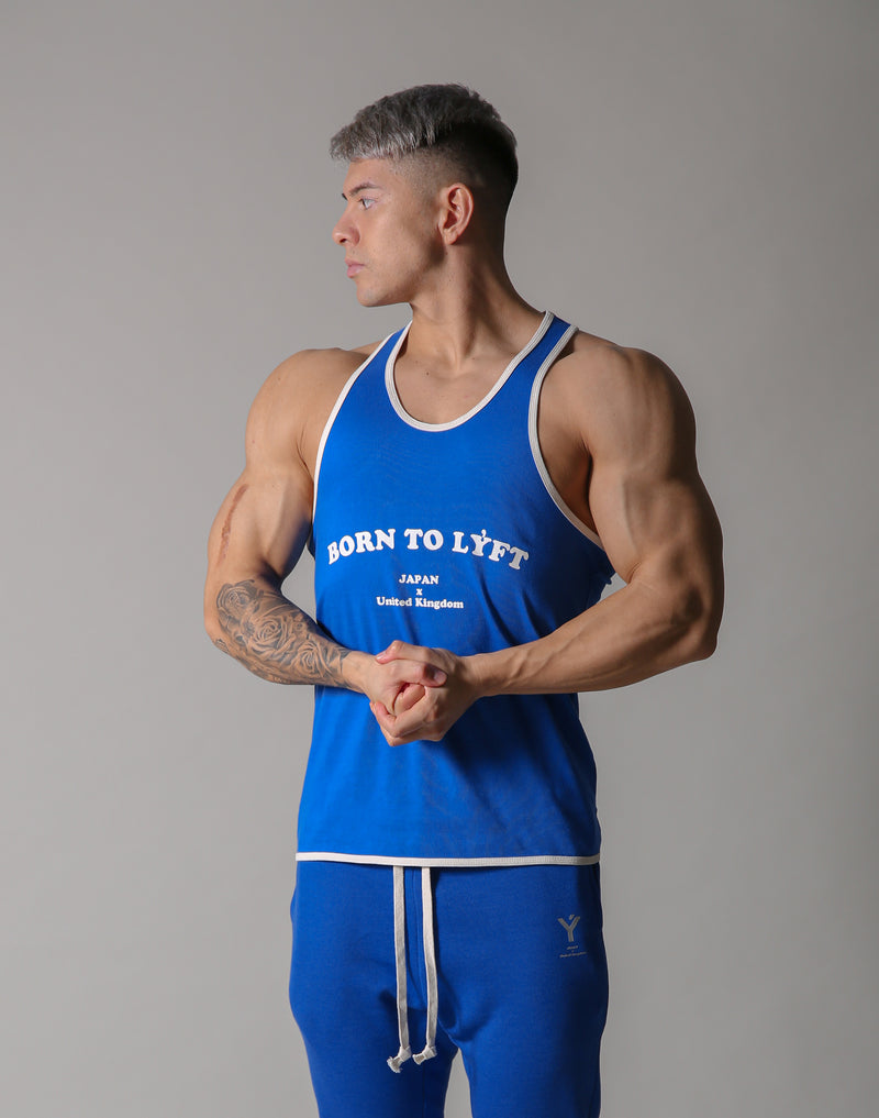 BORN TO LÝFT Loose Tanktop - Blue