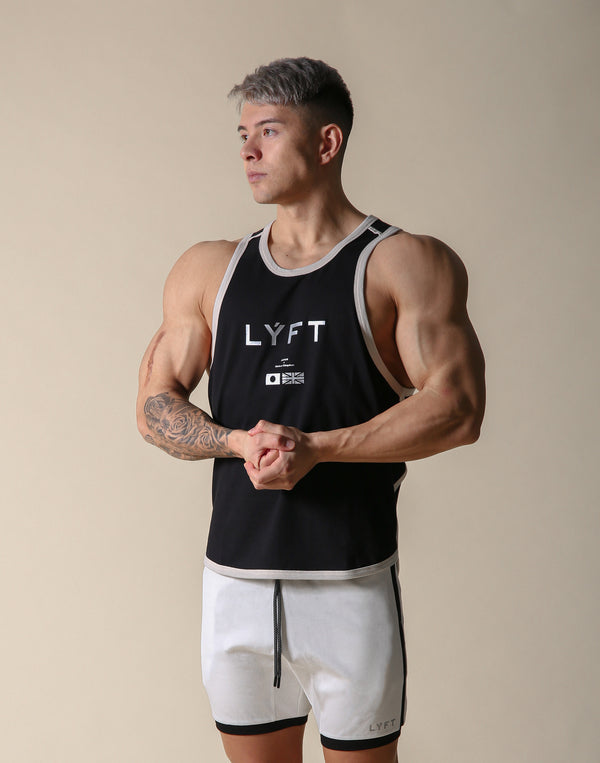 LÝFT Flag Piping Tanktop - Black