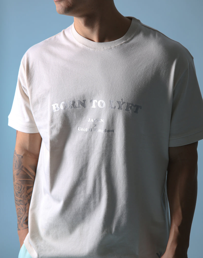 BORN TO LÝFT Big T-SHIRT - Off White