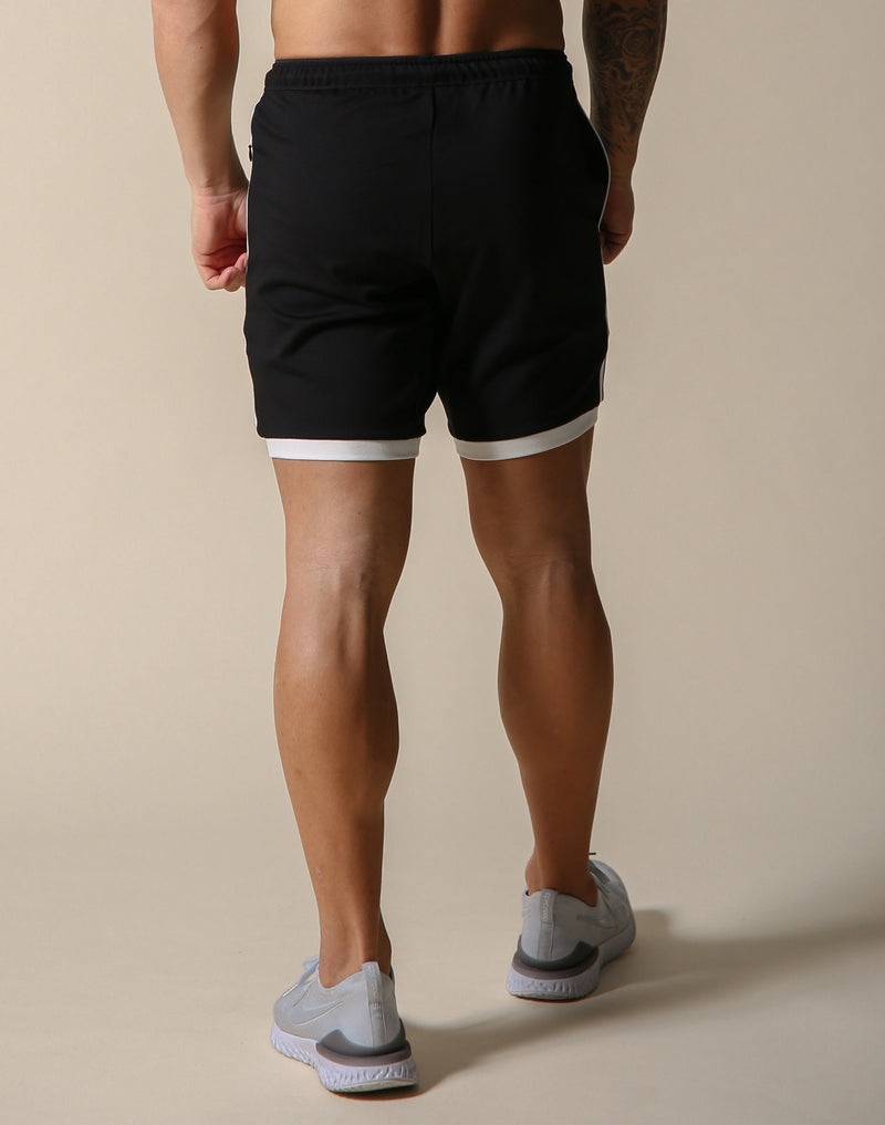 One Line Half Pants 2 - Black / White