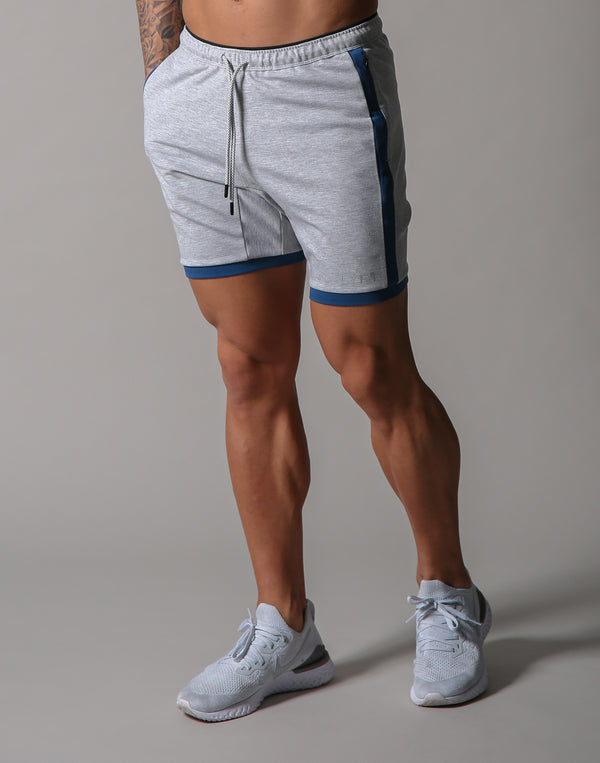 One Line Half Pants 2 - Grey / Blue