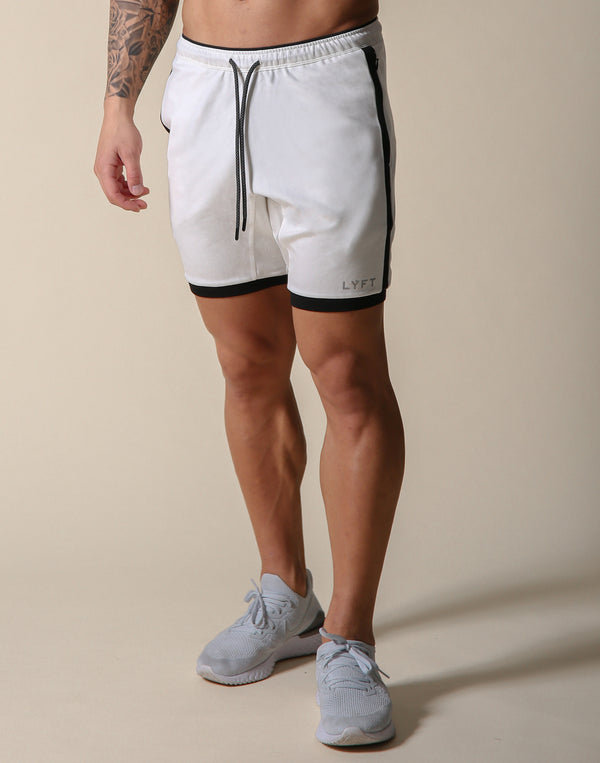 One Line Half Pants 2 - White / Black