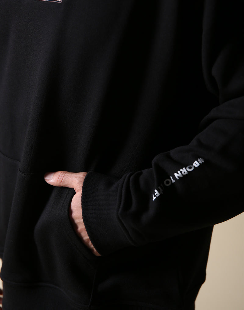 Sweat Layered Pullover / Born to LYFT - Black