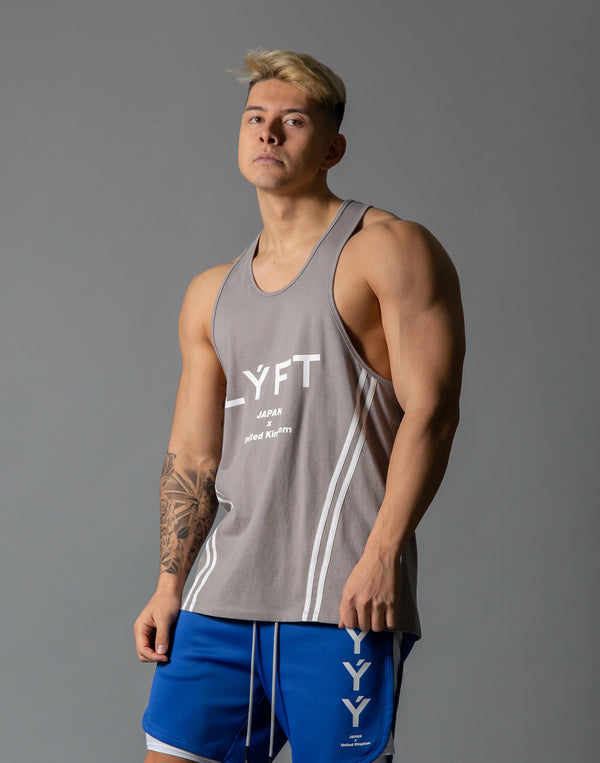 LÝFT 2 Line Training Tanktop - Grey