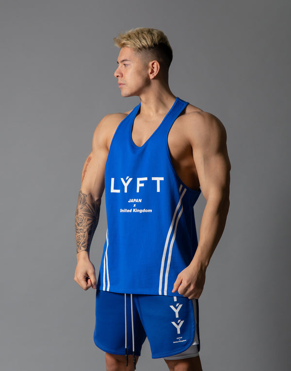 LÝFT 2 Line Training Tanktop - Blue