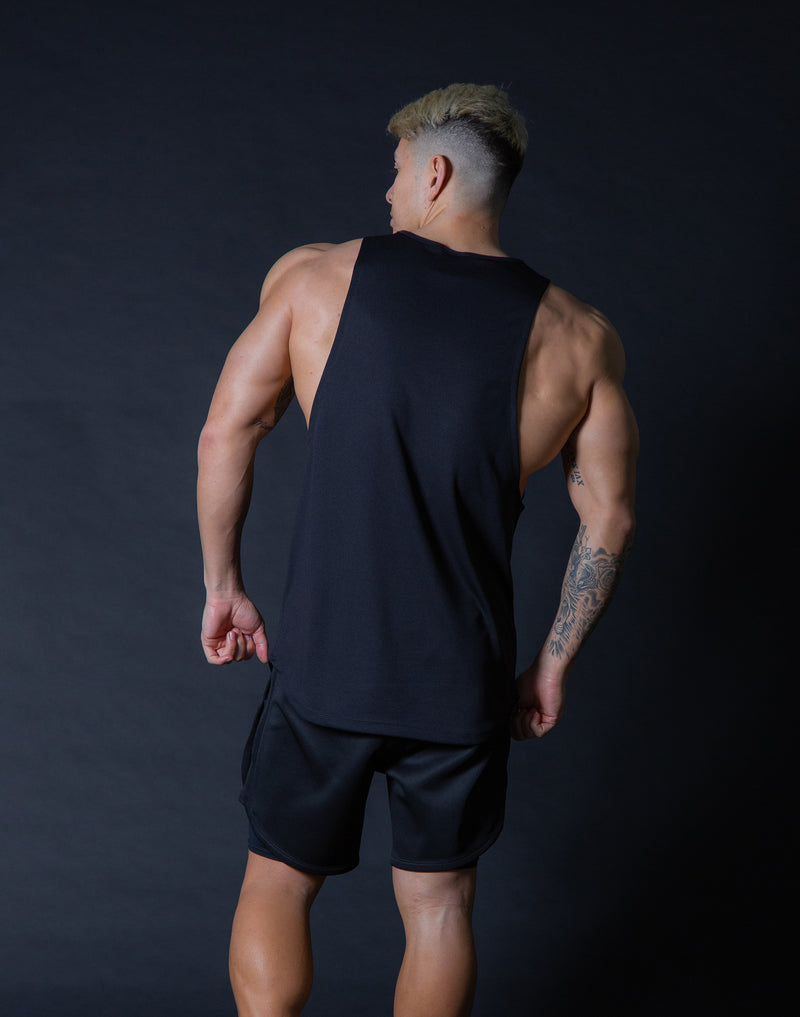Ý Mesh Training Tanktop - Black x Black