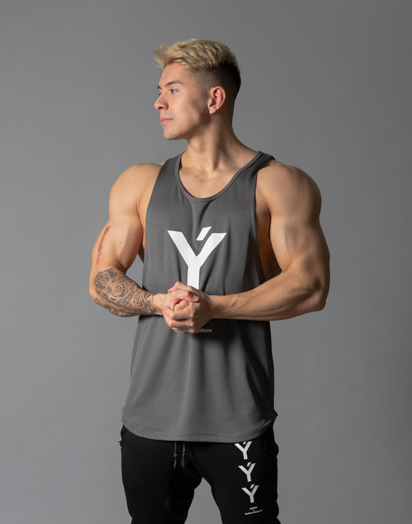 Ý Mesh Training Tanktop - Grey