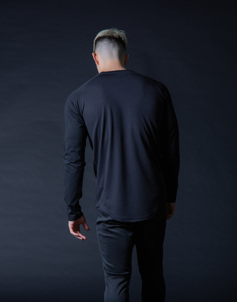 ÝÝÝÝ Combi Mesh Training Long sleeve - Black x Black