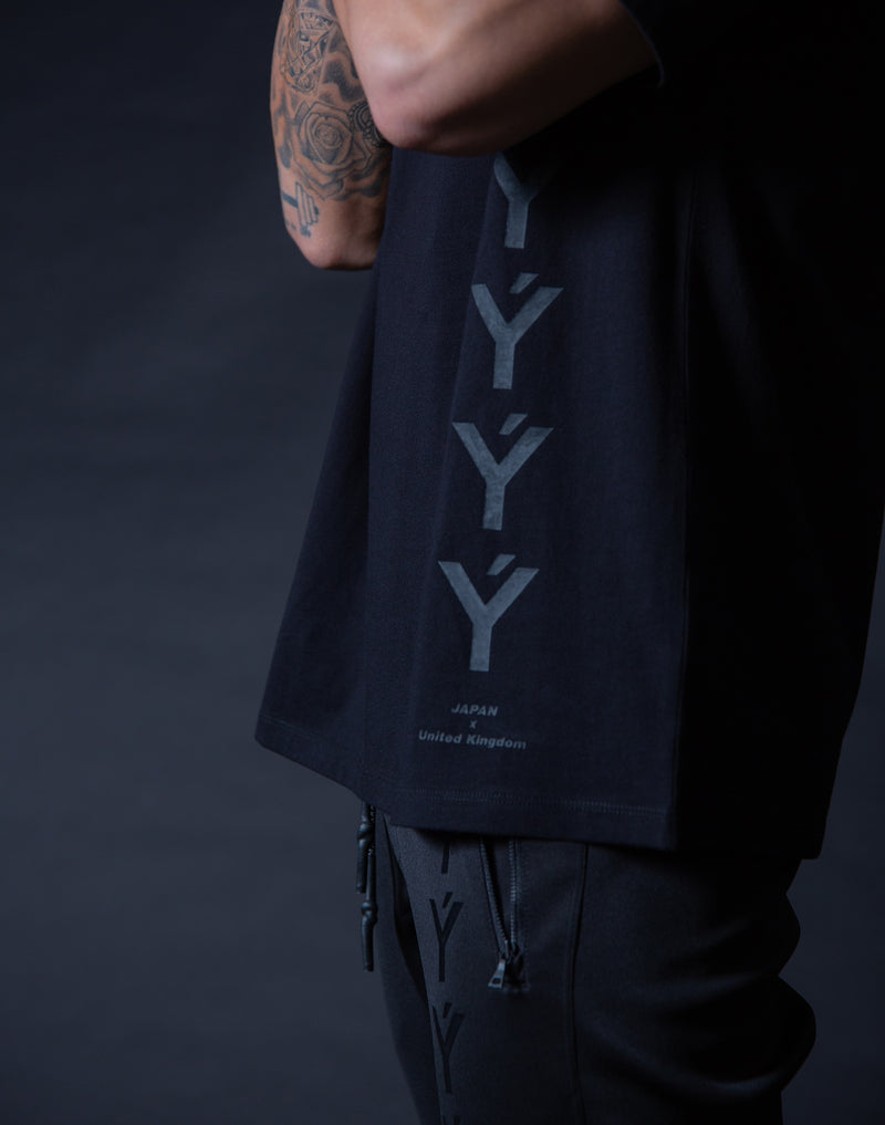 ÝÝÝÝ Big Size T-Shirt - Black x Black