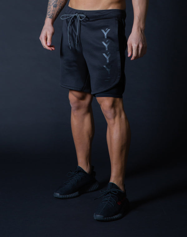 LÝFT Strong Shorts with leggings - Black x Black
