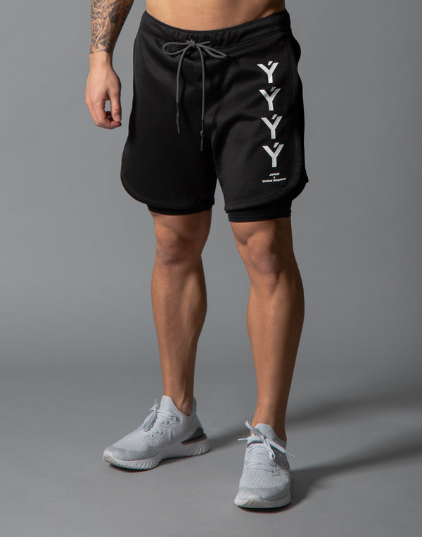LÝFT Strong Combi Shorts / With Leggings - Black