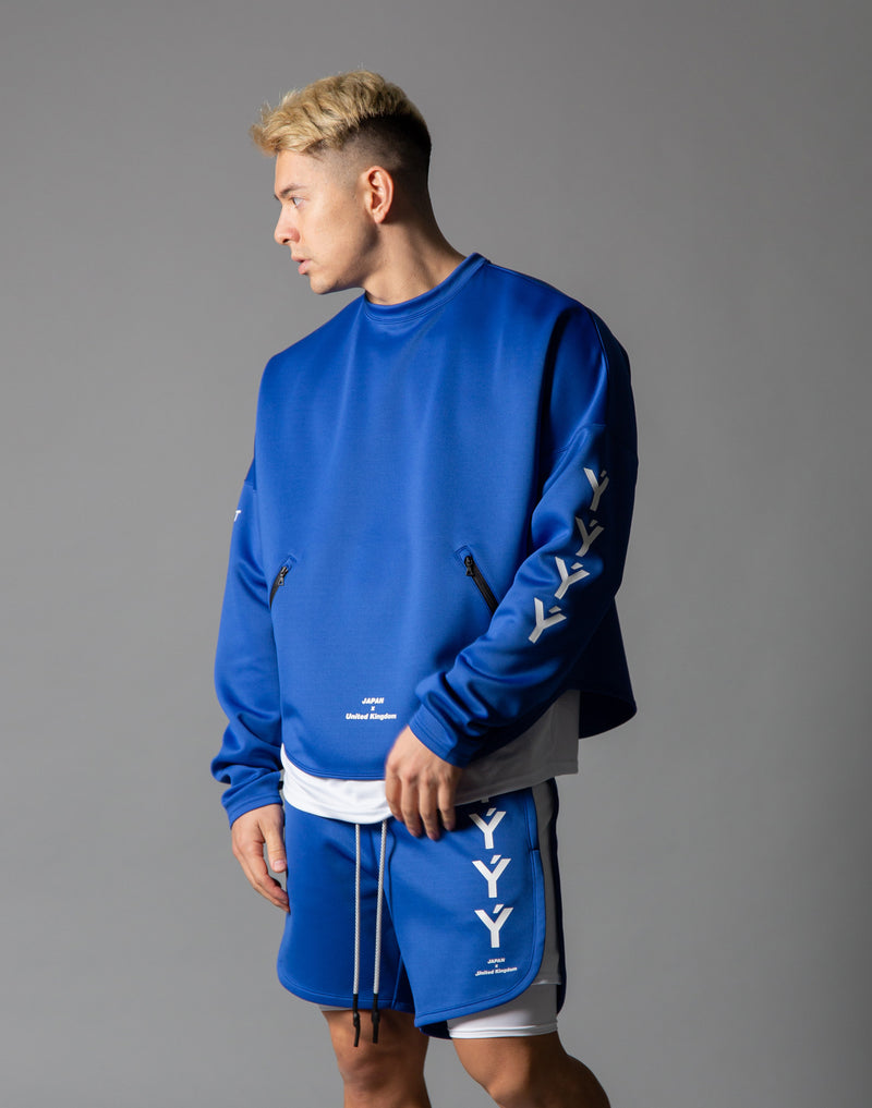 Ý Training Layered crew neck - Blue