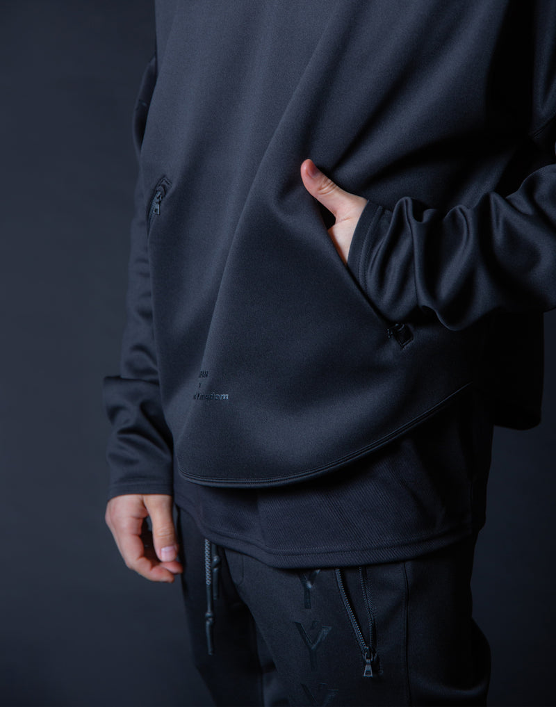 Ý Training Layered crew neck - Black x Black