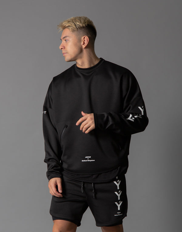 Ý Training Layered Crew Neck - Black