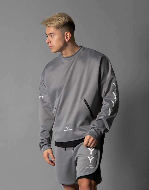 Ý Training Layered crew neck - Grey