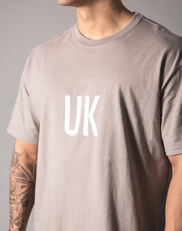 UK x JP Big T-shirt - Grey