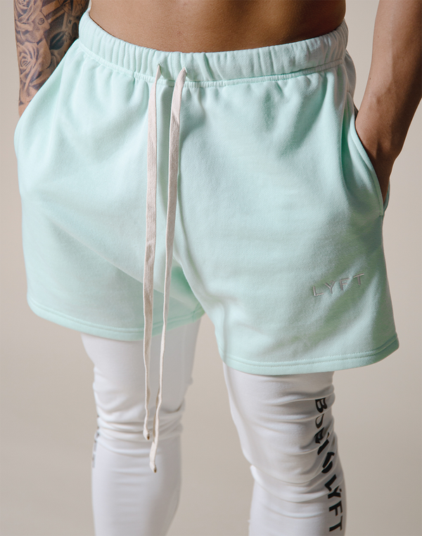 LÝFT Logo Sweat Shorts - Mint Green