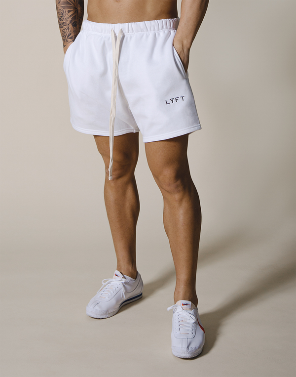 LÝFT Logo Sweat Shorts - White