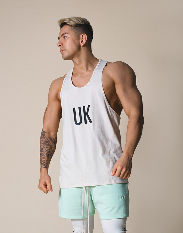 UK x JP Training Tanktop - Off White