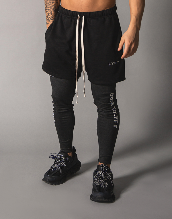 LÝFT Logo Sweat Shorts - Black