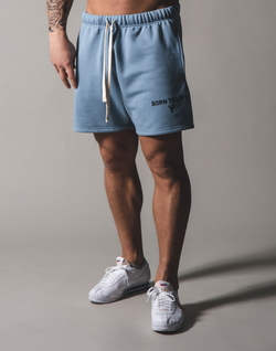 BORN TO LÝFT Sweat shorts - L.blue