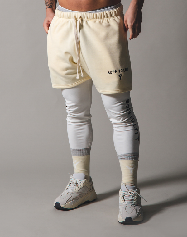 BORN TO LÝFT Sweat shorts - Champagne