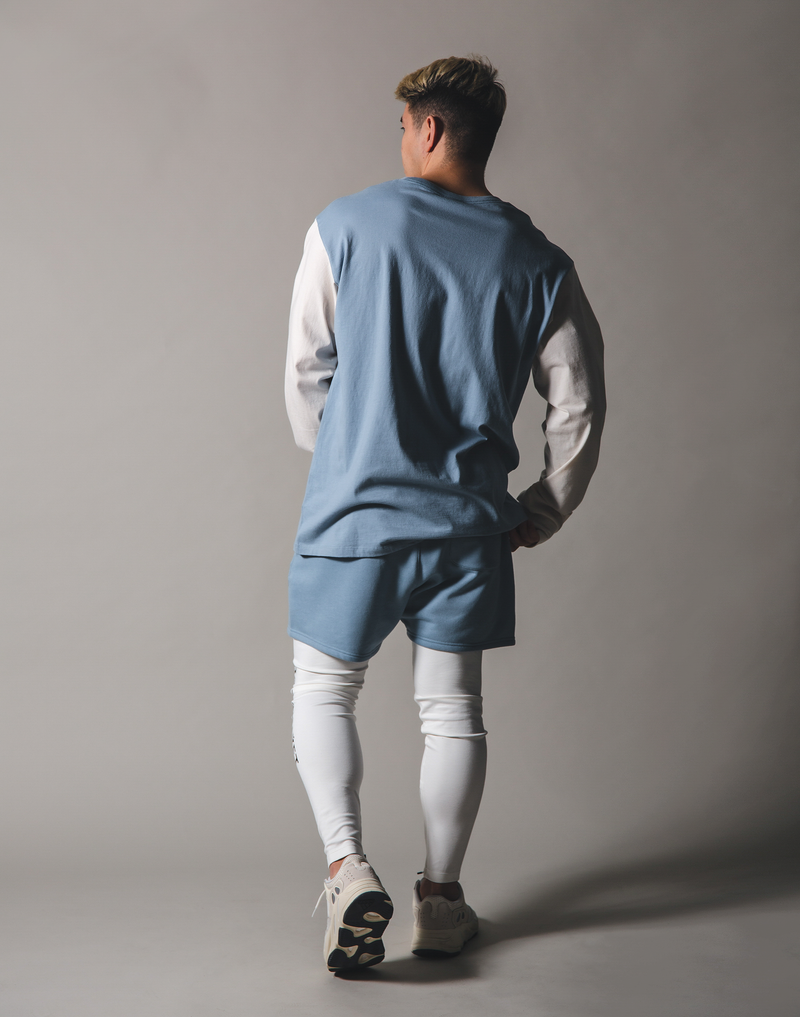 BORN TO LÝFT Long T-Shirt - L.Blue