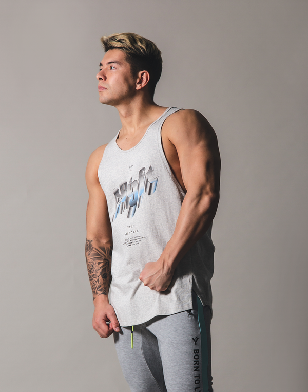 Metalic logo Tanktop - Grey