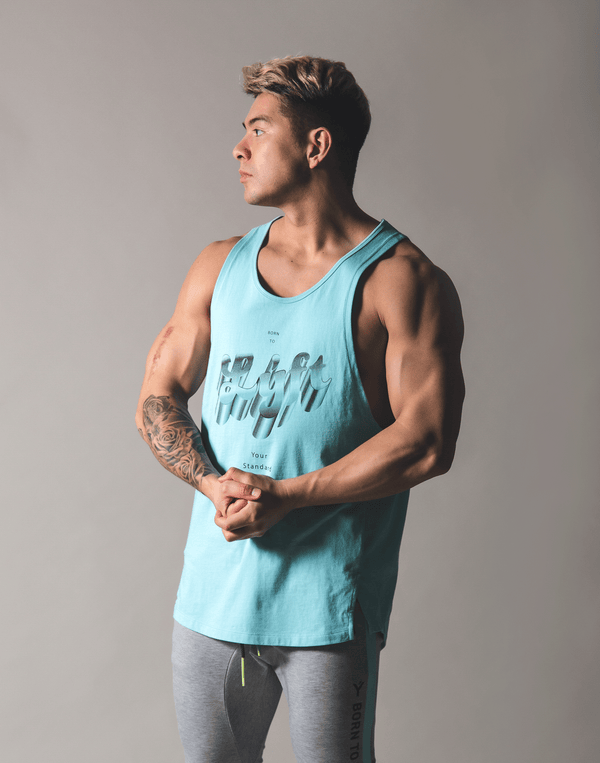 Metalic logo Tanktop - Mint Blue