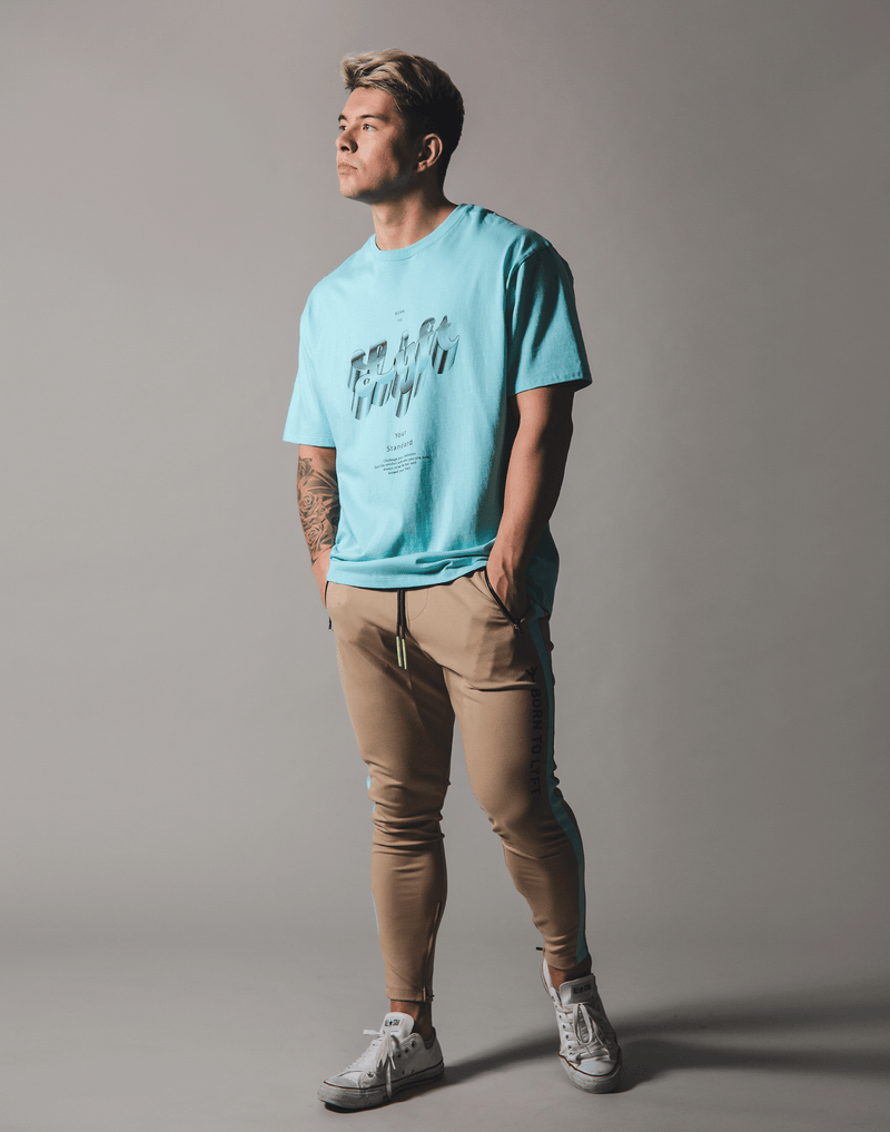 Metalic Logo Big T-Shirt - Mint Blue