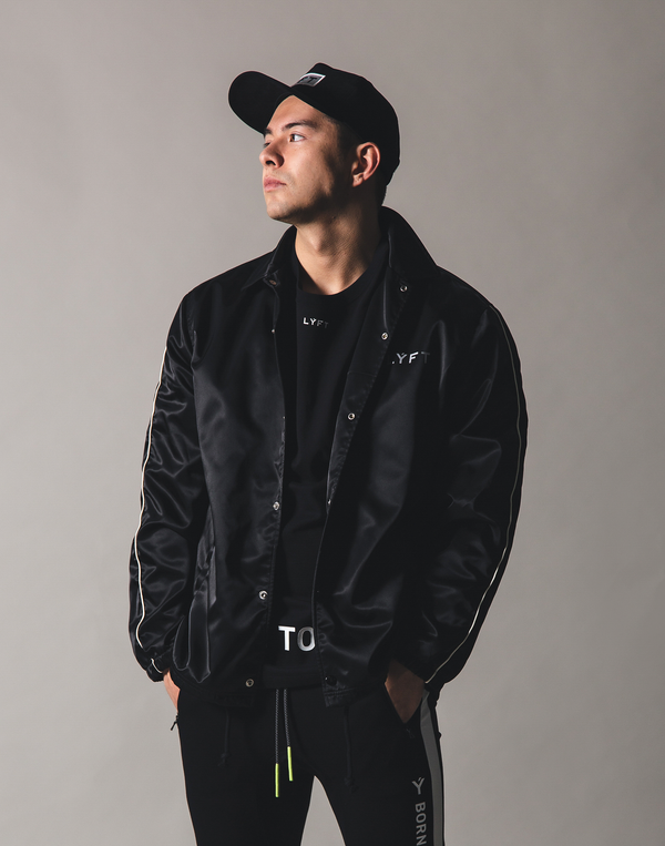 Flag Coach jacket - BLACK
