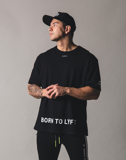 BORN TO LÝFT Big T-Shirt - Black