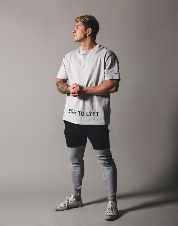 BORN TO LÝFT Big T-Shirt - Grey