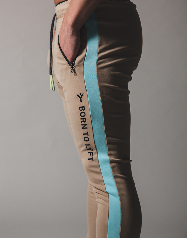 BORN TO LÝFT One Line Pants - Beige