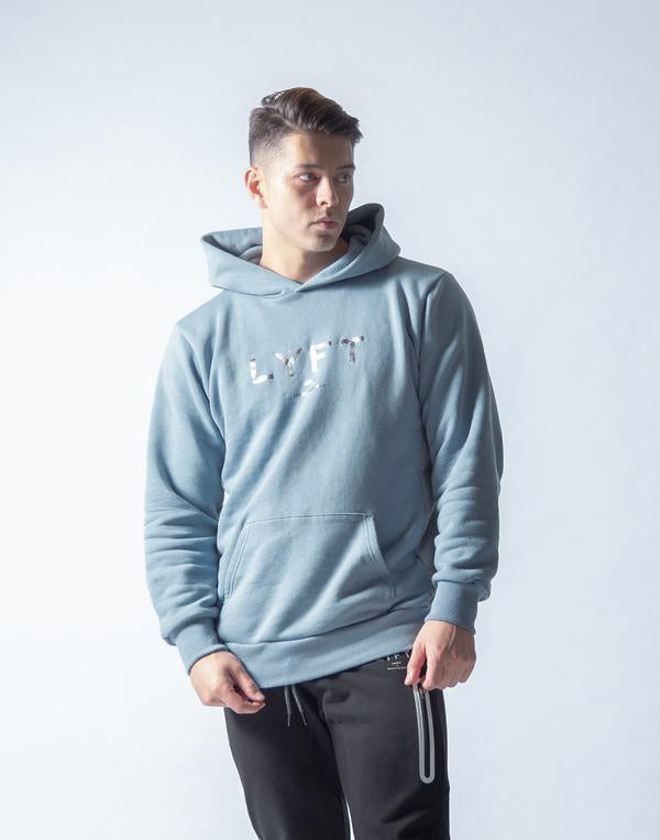 LÝFT Sweat Workout Pullover - Smoky Blue