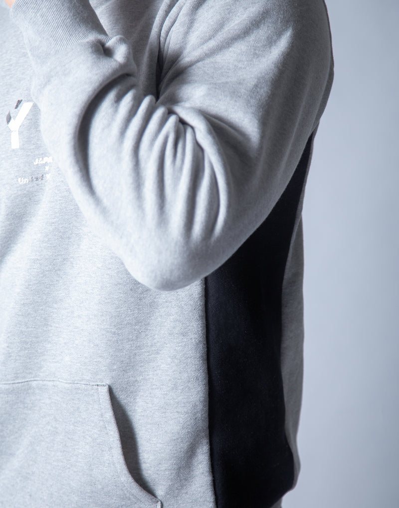LÝFT Sweat Workout Pullover - Grey x Black