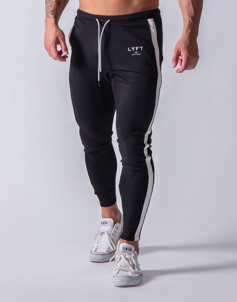 One Line Long Pants - Black