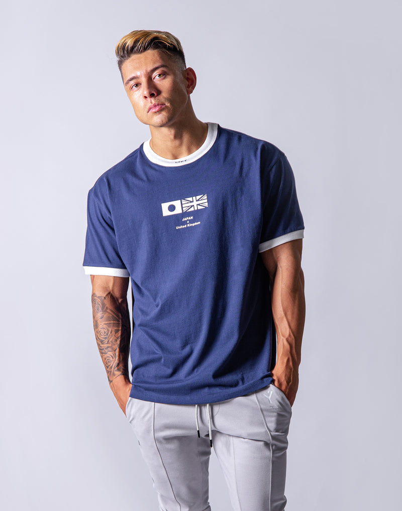 Neck LÝFT Big Size T-Shirt - Navy