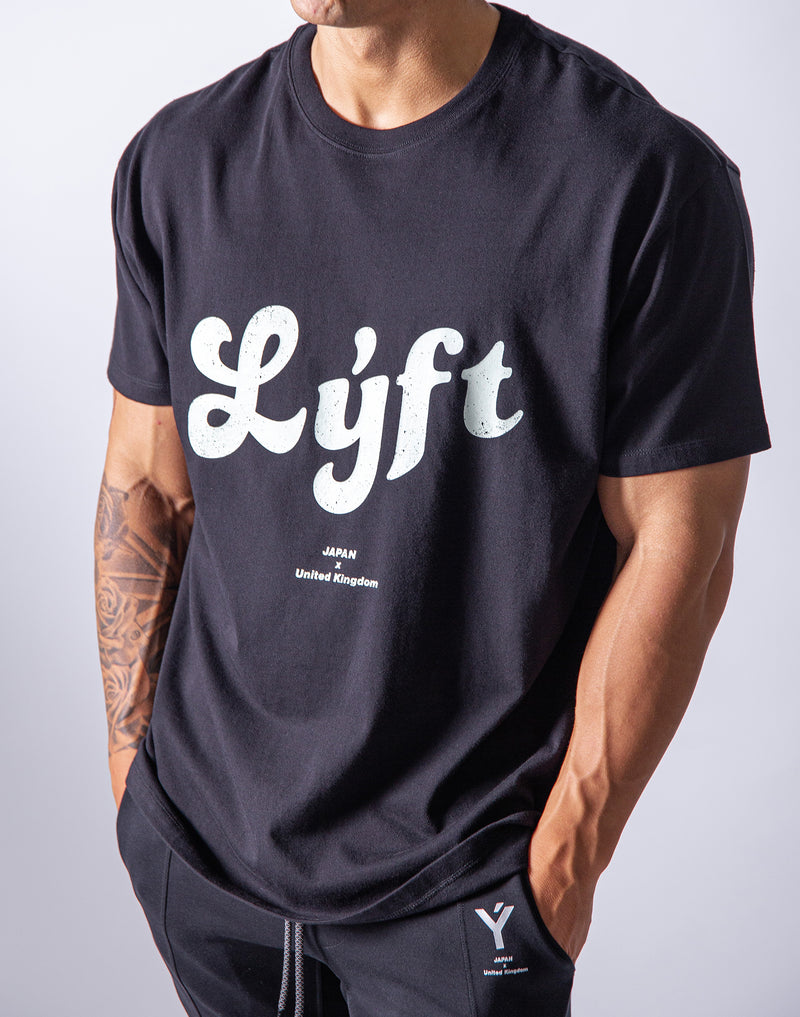 LÝFT Casual logo Big T-Shirts - Black/Mint