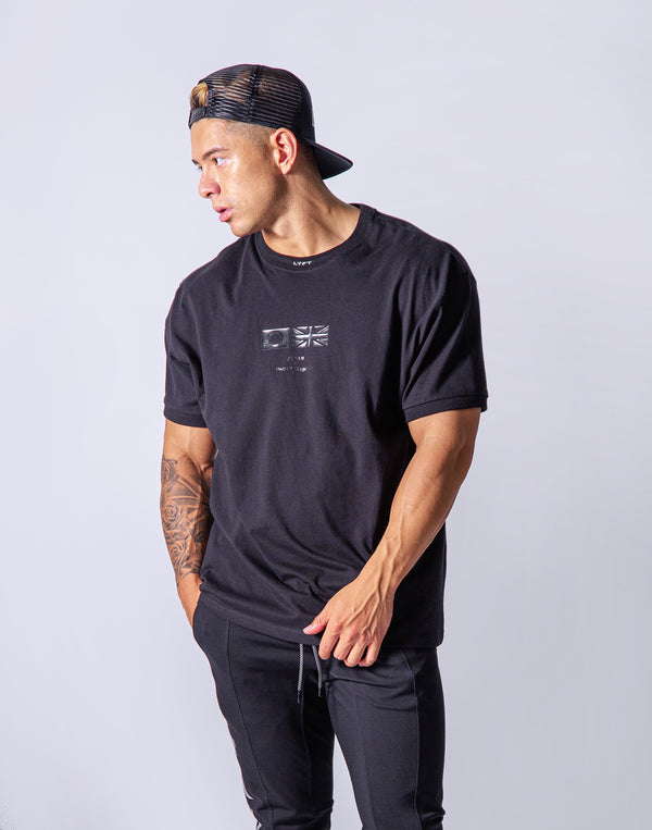Neck LÝFT Big Size T-Shirt - Black