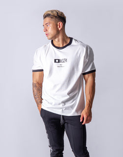 Neck LÝFT Big Size T-Shirt - White