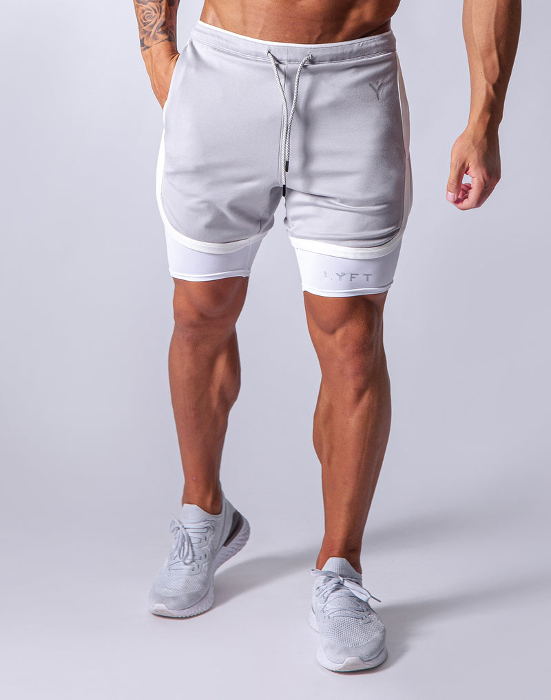 LÝFT Short Strong Shorts with leggings - Grey