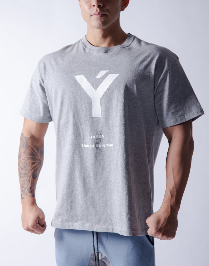Ý Wide Big-size T-Shirt - Grey