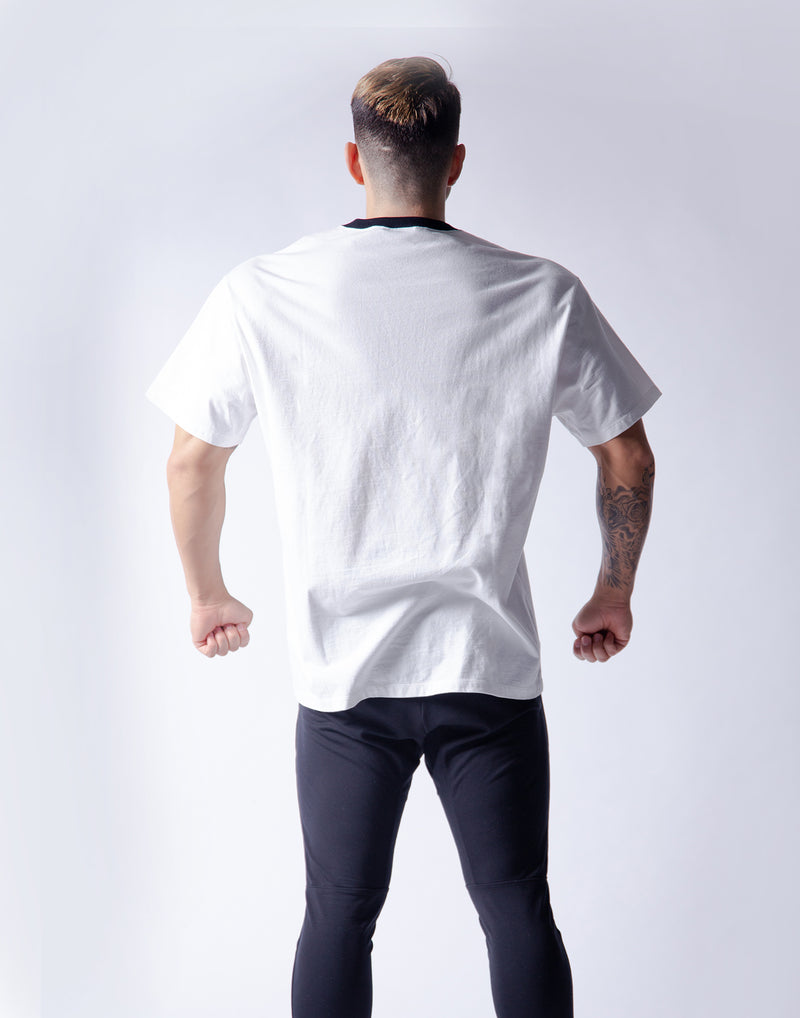 Ý Wide Big-size T-Shirt - White