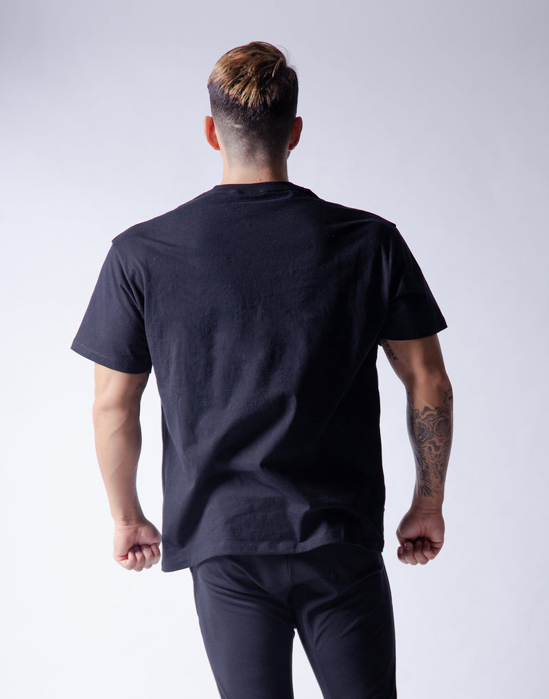 Ý Wide Big-size T-Shirt - Black