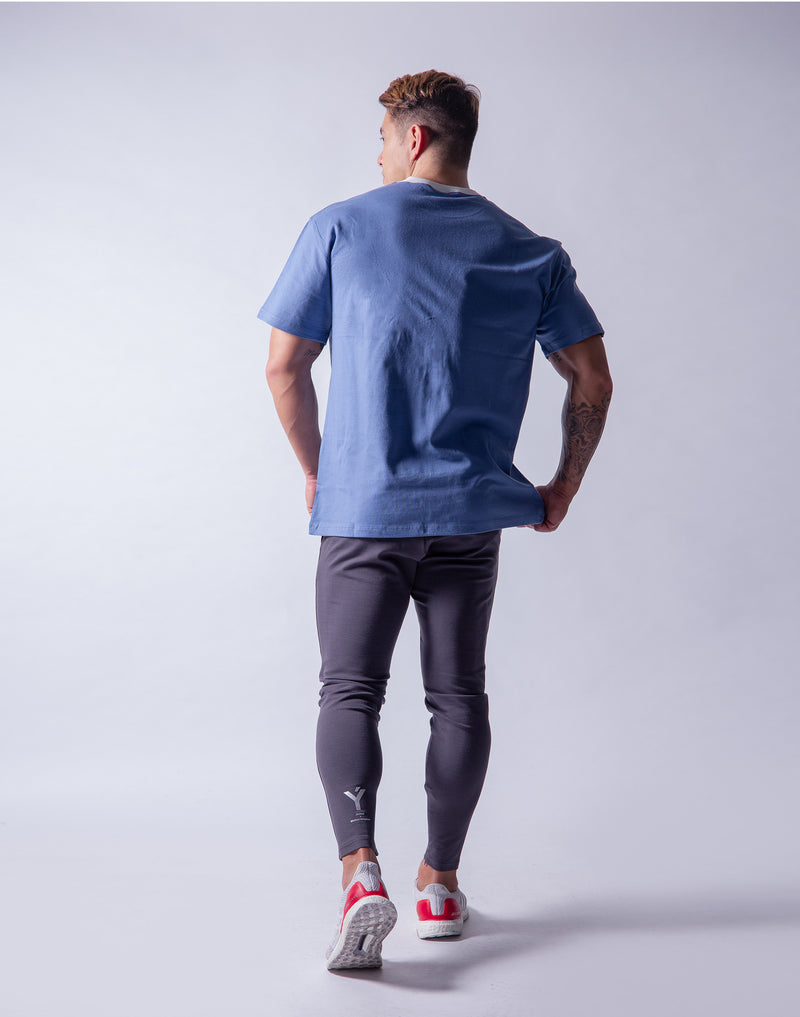 LÝFT Wide Big-size T-Shirt 2 - L.Blue