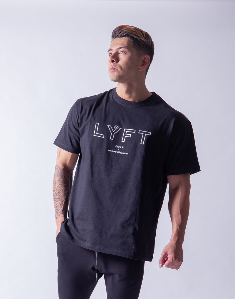 LÝFT Wide Big-size T-Shirt 2 - Black