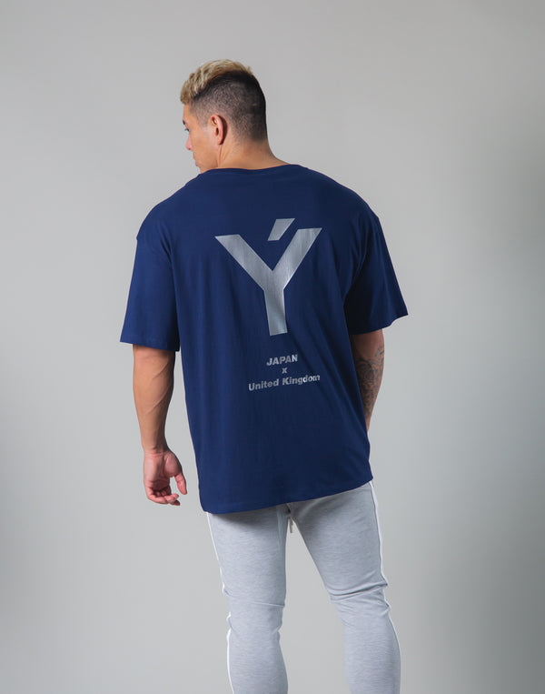Back Big Y Logo Big T-shirts - Navy